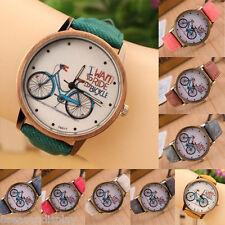 FL 1PC New Fashion Canvas Bike Quartz DIY Bracelet Watch For Women