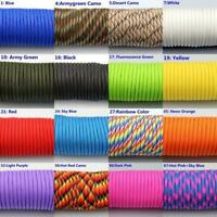100FT/31M 550 Paracord Parachute Cord Lanyard Mil Spec Type III 7 Strand Core