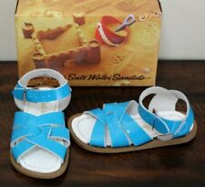 New Salt Water Turquoise Patent Sandals sz 6 7 Toddler Girls Classic Shoes Aqua