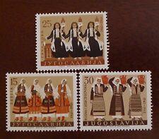 3 Stamp * 1961 JUGOSLAVIA * Cultural Costumes * Bosna Srbija * MNH Mint Unhinged