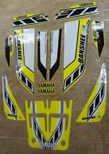Yamaha banshee quad sticker graphics decal 13pc Special Edition Yellow/White ATV