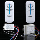 180-240V 2/3 Way ON/OFF Digital RF Remote Control Switch Wireless For Light Lamp