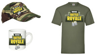 GAMING BATTLE ROYALE FORTNITE  T shirt/CAP/MUG   AGE 5-14 BOYS AND GIRLS