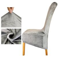 Velvet Fabric Long Back Chair Cover Seat Covers Spandex Decor Decoration Banquet