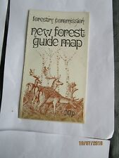 VINTAGE 1972 NEW FOREST GUIDE MAP WITH CAMPSITE AND FOREST WALKS SHOWN