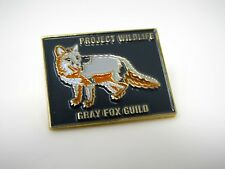 Collectible Pin: Project Wildlife Gray Fox Guild