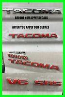 Toyota Tacoma Emblem Decal Overlay 2011 2012 2013 2014 2015 SR5 4X4 PreRunner