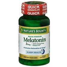 Nature's Bounty 3 mg, 240 Quick Dissolve Tablets, relaxation and sleep
