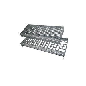 Einpress Gitterroststufen Treppenstufen MW 30x30 30x10 verzinkt rutschhemmend