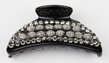Crystal Hair Claw Clamp Clip Black Hair Claw Embellished with Pewter Crystal le