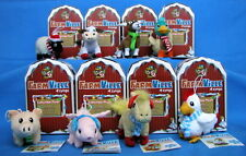 8 - Farmville by Zynga Collectible Plush Animals - UNUSED - NIB- + $80 FV Cash