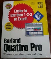 BORLAND QUATTRO PRO 5.0 FOR DOS DATABASE MANAGEMENT SYSTEMS NEW FACTORY SEALED