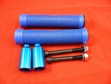 Blue Scooter Grips + Firewheel-inc Blue Grind Pegs