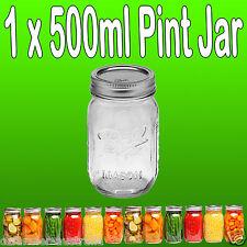 1 x Ball Mason Pint 500ml Jar & Lid BPA Free Preserving Canning Candle Weddings