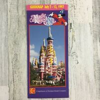 Magic Kingdom Park Guide Map July 1997 25 Year Anniversary Walt Disney World