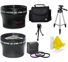 37mm Accessory Kit (Lenses-Filters-Tripod-Bag) For Sony Handycam Camcorders