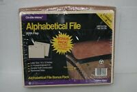 GLOBE WEIS 81726 ACORDIAN ALPHABETICAL FILE WITH FLAP LETTER SIZE 21 POCKETS