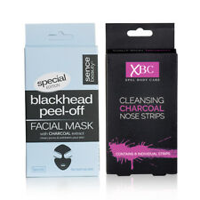 Special Edition Charcoal Facial Set Includes Blackhead Peel Off  and Nose Strips