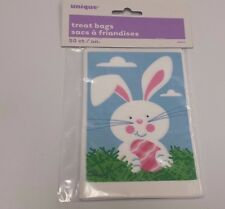 "50 Mini Treat Plastic Candy Bags Bunny  Party Supplies  4"" x 6"" Easter"