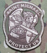 MODERN SAINT ST. MICHAEL PROTECT TACTICAL USA ARMY MORALE MULTICAM HOOK PATCH