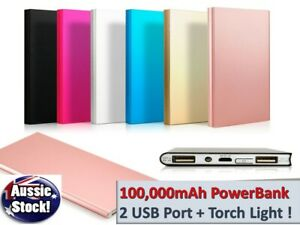 100000mAh External Powerbank Dual USB Portable Battery Charger For all Phone