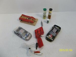 Slot Car Lot Parma Motor 1 Chassis and 3 bodies w/ Vintage Controller