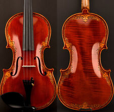 New listing An Master Antique Strad Style Violin 4/4 European Wood Carved Flower Rich Sweet