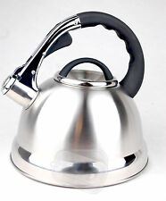 Whistling kettle whiseling silver stainless steel gas electric 3.5ltr hob boat