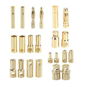 20 Pairs Bullet Banana Plug Connector for RC Battery Gold Plated New