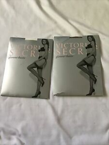 Vintage Victoria Secret Stockings Glamour Sheers Size Large White Nude 4 Pairs
