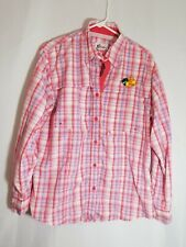 T32 Bass Pro Shops Striped Long Sleeve Button Down Sportsman Shirt Large