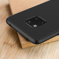 For Huawei Mate 20 X Pro Lite Synthetic Carbon Fiber Texture Back Case Cover
