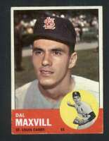 1963 Topps #49 Dal Maxvill VGEX RC Rookie Cardinals 89436