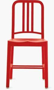 Set of 2 Emeco 111 Navy Chairs in Red (2010) Coca Cola -  legendary 1006 chair