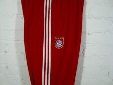 ADIDAS BAYERN MUNICH Vintage Red White Football Pants Size XL