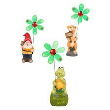 3 x Nouveauté Jardin Décoratif Windmill gnomes Mignon nain Statue Ornements Small