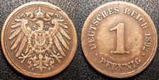 Allemagne - Wilhelm II - 1 reichspfennig 1892 F, Stuttgart - KM#10