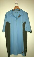 NIKE GOLF Nike FIT DRY Light Blue Short Sleeve Collared Polo Shirt XXL 2XL