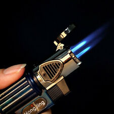 Windproof Triple Jet Nozzles Torch Gas Fuel Flame Butane Cigarette Cigar Lighter