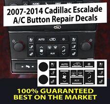 Escalade A/C Climate Control Button Dash Repair Decals stickers