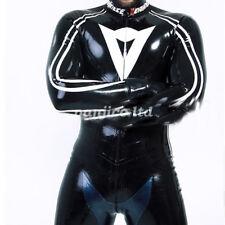 Latex Rubber Gummi Handsome Racing Suit Bodysuit Catsuit Full Body Size:XXS-XXL