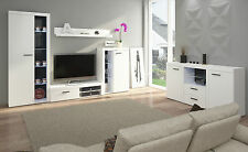 New Living Room Furniture Set White Cabinet Cupboard Tv Shelf Entertainment Unit