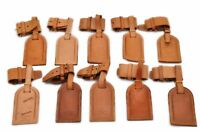 Authentic Louis Vuitton Leather Name Tag Handle Holder Beige 10 Set LV 86199