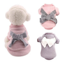 Cute Bow Small Dog Clothes Soft Warm Dog Coat Winter Chihuahua Puppy Clothing