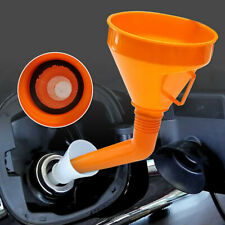Car Water Oil Funnel Petrol Diesel With Spout & Filter Large Detachable Flexible