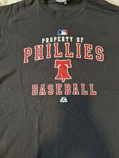 NEW Property of Philadelphia Phillies Baseball Shirt  Majestic LG Liberty Bell