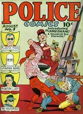 Police Comics #1 Photocopy Comic Book, 1st Plastic Man, 1st Phantom Lady