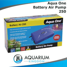 Aqua One Battery Air Pump 250 - Fishing Trip Portable Fish Bait Tanks Aquarium