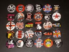 English and Street Punk Band Buttons /  Pins 30