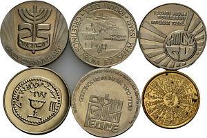 Savoca Coins Israel Lot von 6 verschiedenen Medaillen =BZB80598